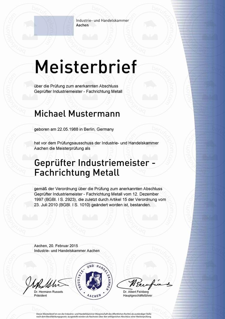 Meisterbriefe Kaufen Von A Bis Z Bequem Online Bestellen Berufszertifikate Diplome
