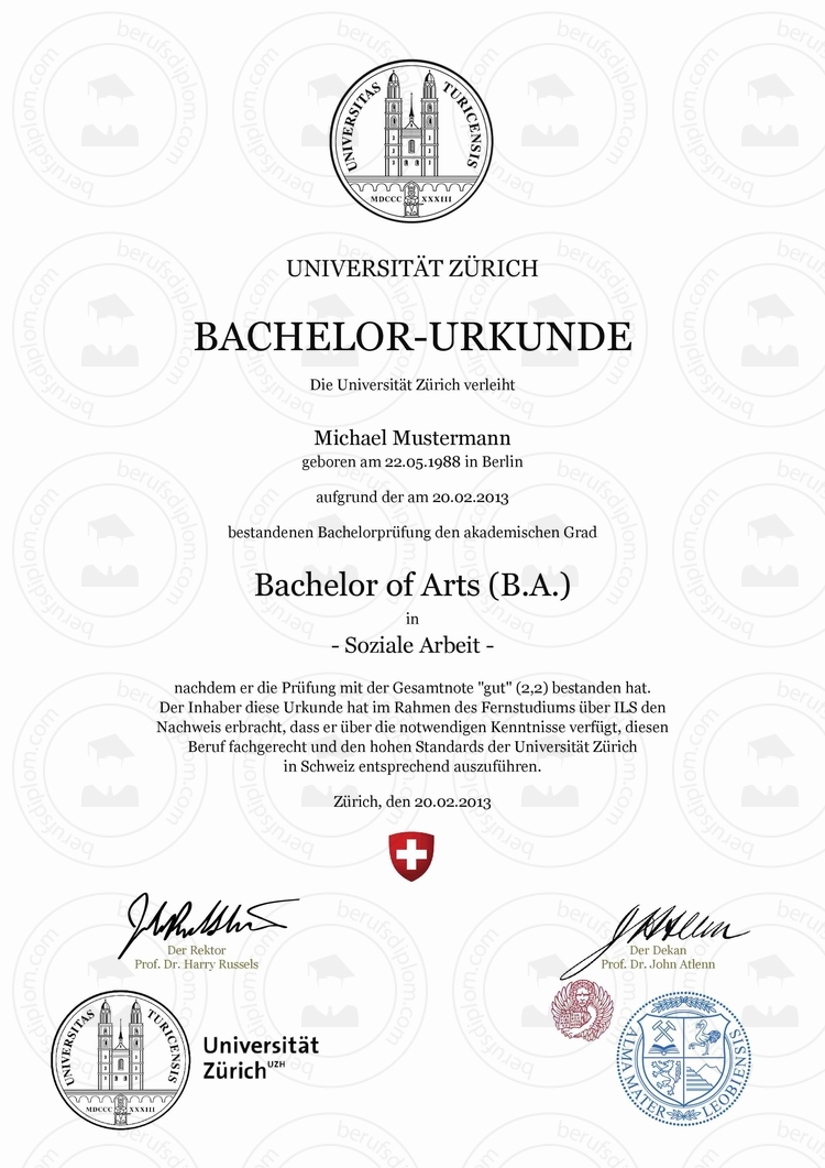 Bachelor Urkunde einfach kaufen | UZH – Universität Zürich