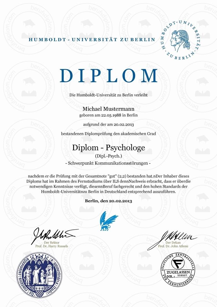 Berufsdiplom & Diplom kaufen | Humboldt-Universität zu Berlin