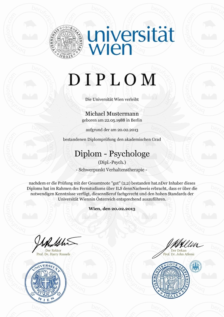 Diplom Urkunde einfach online kaufen | Universität Wien