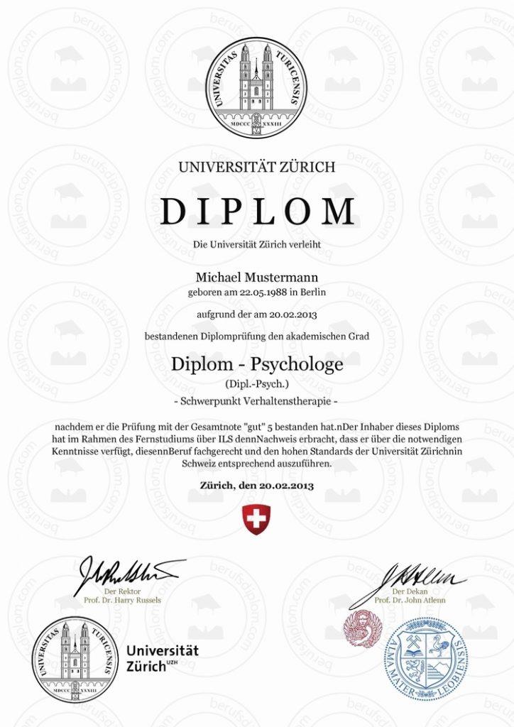 Diplom urkunde online kaufen uzh universit t z rich for Medizin studieren schweiz