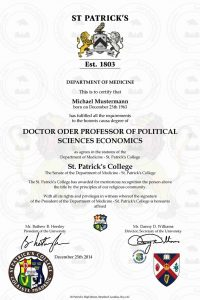 doctor_diplom_St_ Patrick_s_College_1