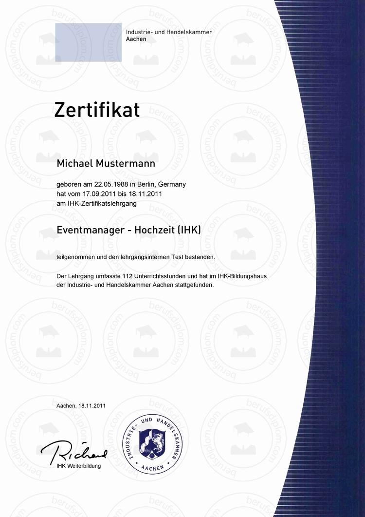 Fortbildungszertifikat kaufen | Zertifikat online erstellen