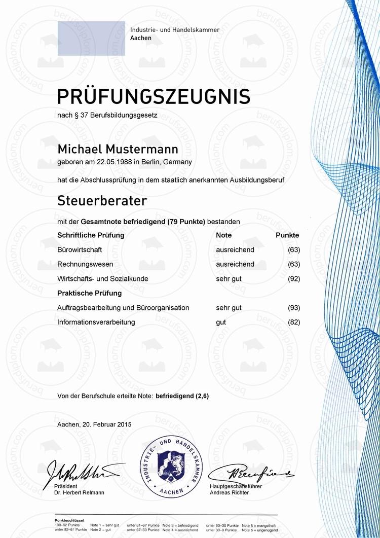 IHK Prüfungszeugnis kaufen | Prüfungszeugnisse online kaufen!